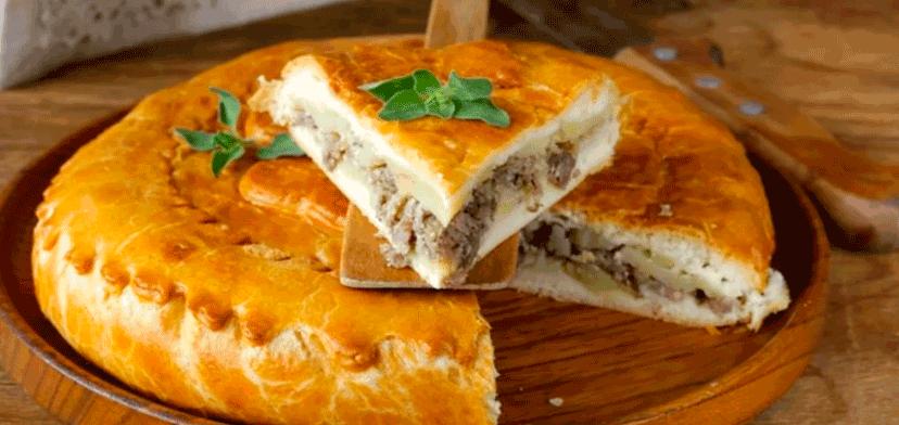 Вкусный пирог с картофелем и мясом по старинному польскому рецепту