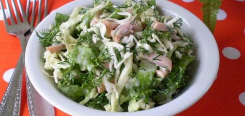 Капустный салат с майонезом