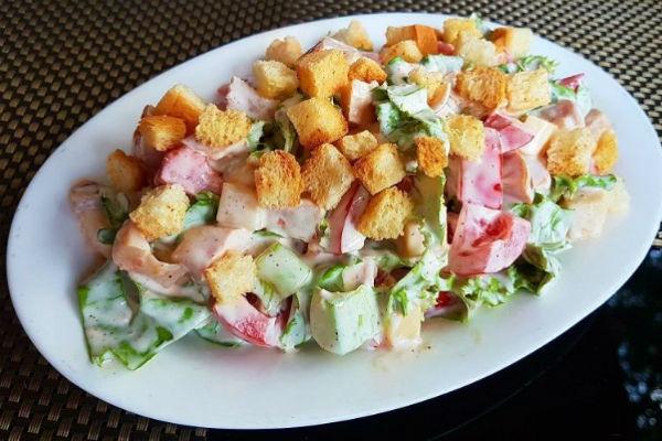 Самый вкусный летний овощной салат «Малибу»