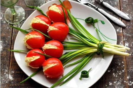 Закуска «Тюльпаны»