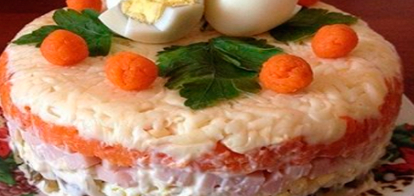 салат королевский рецепт с ветчиной и грибами
