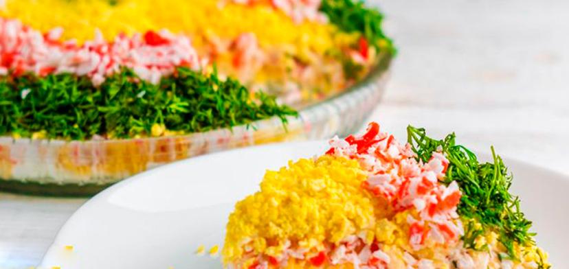 Приготовить простые салаты на новый год