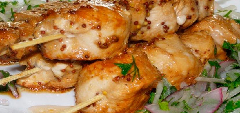 Сочный шашлык из куриной грудки рецепт очень вкусный