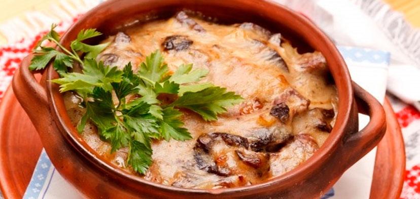 Пельмени в горшочке в духовке с сыром рецепт с пошагово в