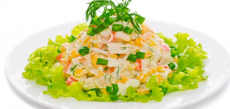 Кукуруза и крабовые палочки салат рецепт классический с