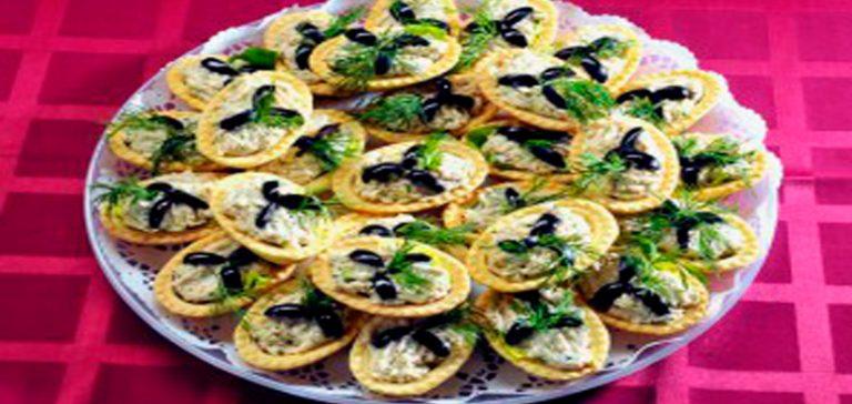 Печень трески салат в тарталетках