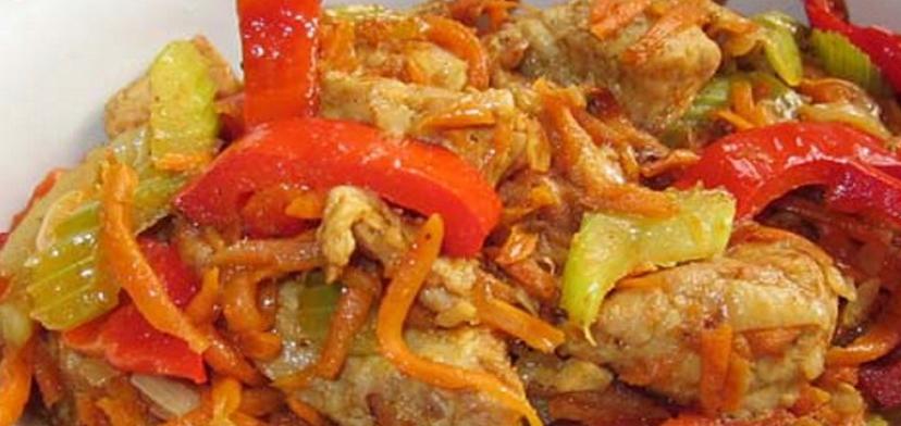 Рецепт вкусного тушеного мяса с овощами