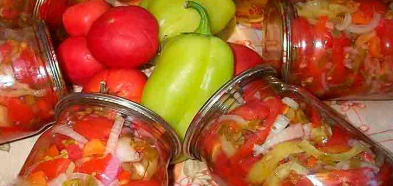 Салат на зиму из помидор на зиму рецепты