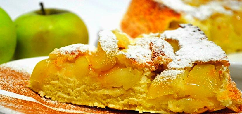 Шарлотка много яблок рецепт